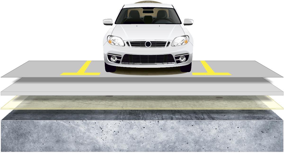 Parking floor layer